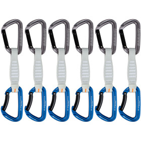 Mammut Workhorse Keylock Quickdraws 12cm 6-Pack, Straight Gate/Bent Gate Key Lock, grey-blue